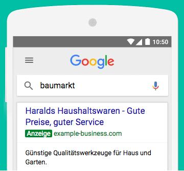 Google-Ads-AdWords-Beispielanzeige