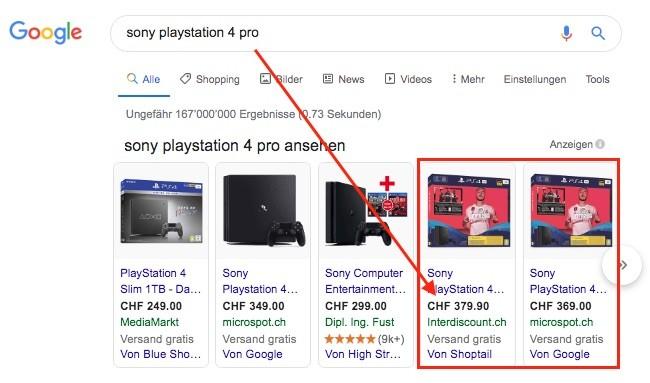 Google-Shopping-Preisvergleich