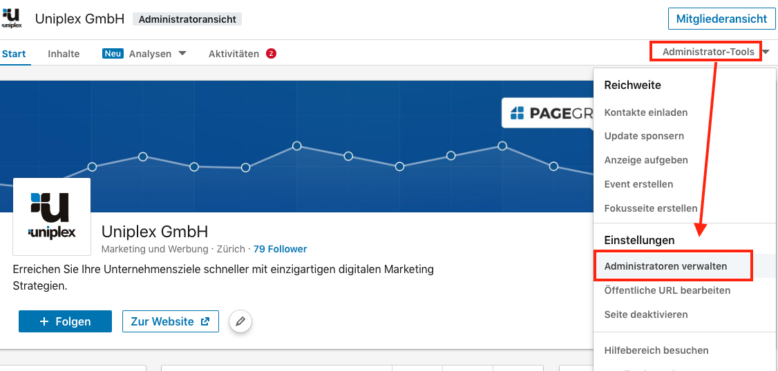 LinkedIn-Zugriff-auf-Unternehmensseite-einrichten1